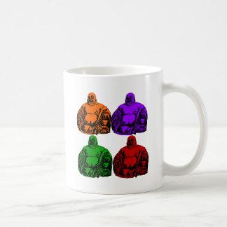 buddha - pop art classic white coffee mug