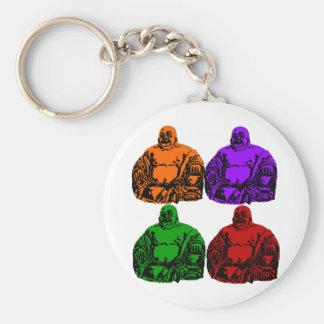 buddha - pop art key chain