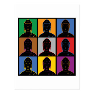 Buddha Pop Art Postcard