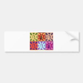 Buddha -- Pop Art Style Bumper Sticker