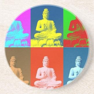 Buddha Pop Art Style Drink Coaster
