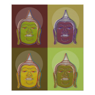 Buddha Pop Art Zen Retro Modern Custom Poster
