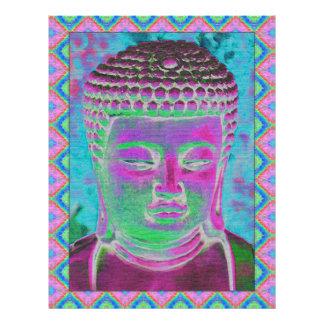 Buddha Pop in Magenta and Turquoise Letterhead