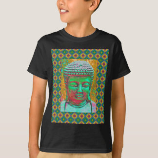 Buddha Pop in Teal Green and Red T-Shirt