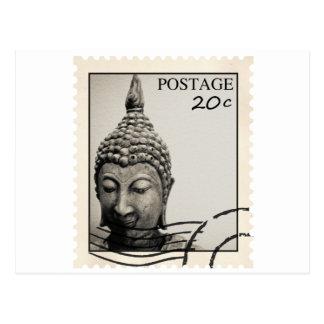 Buddha Postage Stamp Design Post Cards