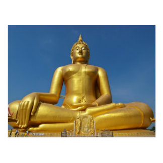 buddha power postcard