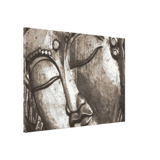 Buddha Praying Meditate Blessing Love Canvas Sepia