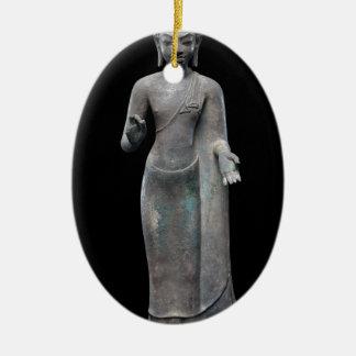 Buddha Preaching Ceramic Ornament