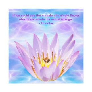 Buddha purple Lotus flower Canvas Print