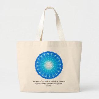 Buddha  QUOTATION Buddhist Spiritual Quotes Large Tote Bag