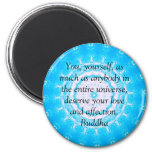 Buddha  QUOTATION Buddhist Spiritual Quotes 2 Inch Round Magnet