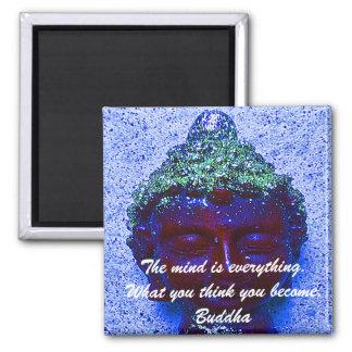 Buddha quotation on buddha background refrigerator magnet