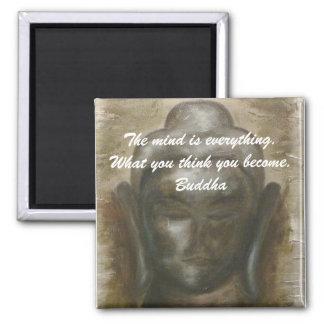 Buddha quotation on painted buddha background magnet