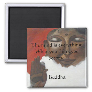 Buddha quotation on painted budha fridge magnets