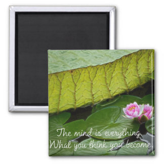 Buddha Quote 2 Inch Square Magnet