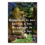 BUDDHA quote about happiness Greeting Card
