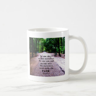 Buddha QUOTE about personal salvation and choices Classic White Coffee Mug