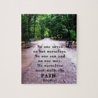 Buddha QUOTE about personal salvation and choices Jigsaw Puzzle