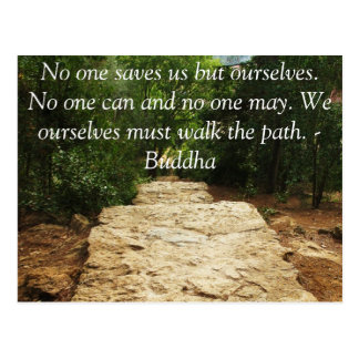 Buddha QUOTE about personal salvation and choices Postcard