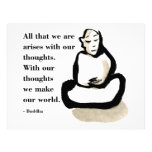 Buddha Quote: All That We Are Custom Letterhead