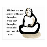 Buddha Quote: All That We Are Post Card