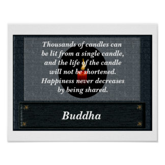 Buddha quote - Candles poster