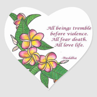 Buddha Quote Heart Sticker