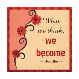 Buddha Quote  Inspirational Thoughts Floral Art Canvas Print