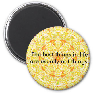 Buddha quote inspirational yoga meditation art 2 inch round magnet