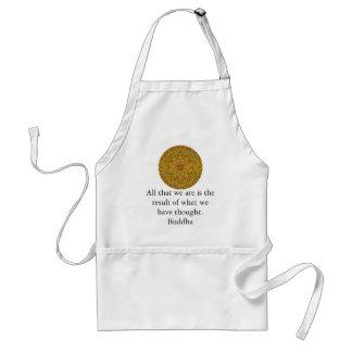 Buddha quote inspirational yoga meditation art adult apron
