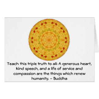 Buddha quote inspirational yoga meditation art card