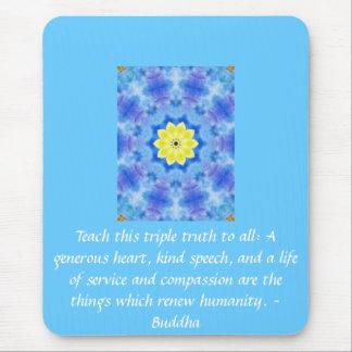 Buddha quote inspirational yoga meditation art mouse pad