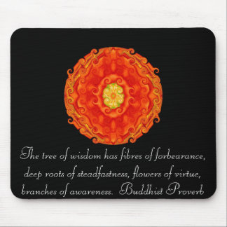 Buddha quote inspirational yoga meditation art mouse pad
