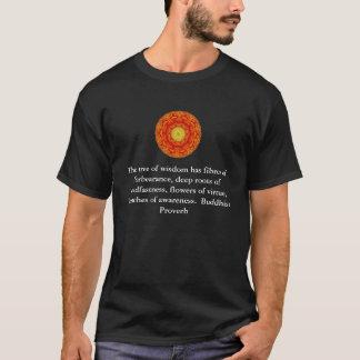 Buddha quote inspirational yoga meditation art T-Shirt