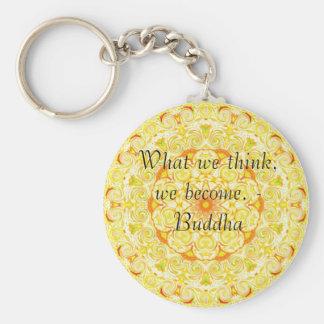 Buddha quote inspire motivational keychain