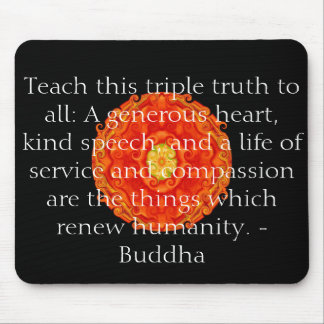 Buddha quote inspire motivational mouse pad