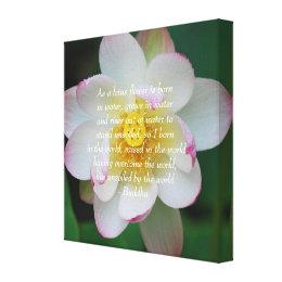 Lotus flower quotes buddha hitman game buddha quote lotus flower canvas print mightylinksfo Choice Image