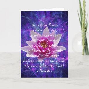 lotus flower quote cards zazzle