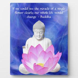 Lotus flower quote home dcor zazzle buddha quote lotus flower plaque mightylinksfo