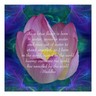 Buddha quotes posters zazzle buddha quote lotus flower poster mightylinksfo Choice Image