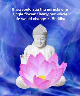 Lotus flower quote art wall dcor zazzle buddha quote lotus flower poster mightylinksfo
