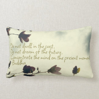 Buddha quote on the past throw pillow