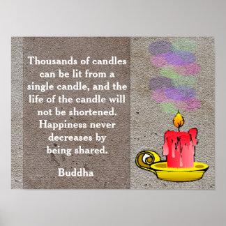 Buddha quote - poster