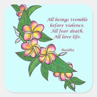 Buddha Quote Square Sticker