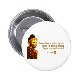 Buddha Quote - The way is not in the sky ... Pinback Button