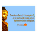 Buddha Quote - The way is not in the sky ... Postcard