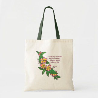 Buddha Quote Tote Bags