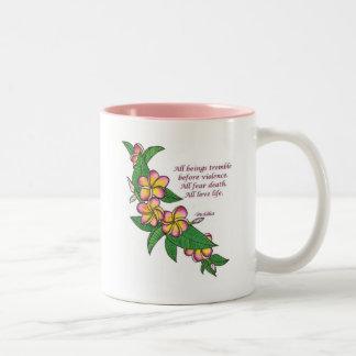 Buddha Quote Two-Tone Coffee Mug