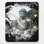 buddha rainbow mouse pad
