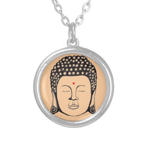 Buddha Red Heart Bindu Necklace